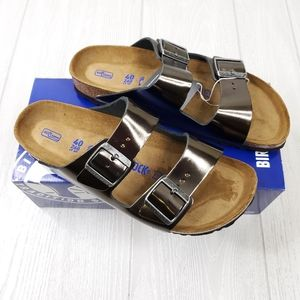 Birkenstock Arizona BS Metallic Anthracite Sandals